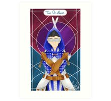 Grey Warden Tarot  Art Print