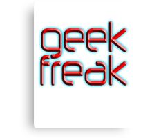 Geek, freak, eccentric, non-mainstream people. Canvas Print