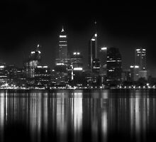 Night fall: Perth city, WA by Lydia Griffiths
