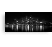 Night fall: Perth city, WA Canvas Print