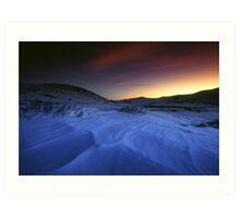 Guanella Pass, Sunset, Snow Art Print
