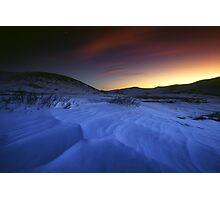 Guanella Pass, Sunset, Snow Photographic Print