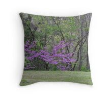 Redbud Tree 4/22/10 Throw Pillow