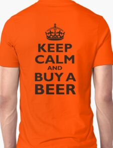 KEEP CALM, BUY A BEER, ON RED T-Shirt