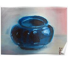 Tony's Thrown Blue Glaze Poster