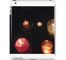 warm candle collection iPad Case/Skin