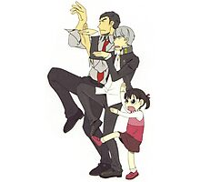 nanako and protag and dojima Photographic Print