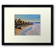 Surf Surg Framed Print