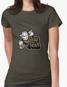 STAY FRESH TAG 2 Womens Fitted T-Shirt