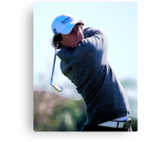 Rory McIlroy - Tees Off Canvas Print