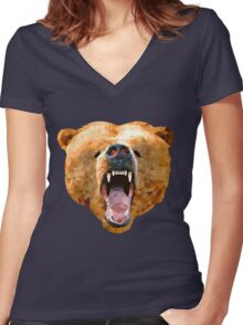 Poly Bear Women's Fitted V-Neck T-Shirt