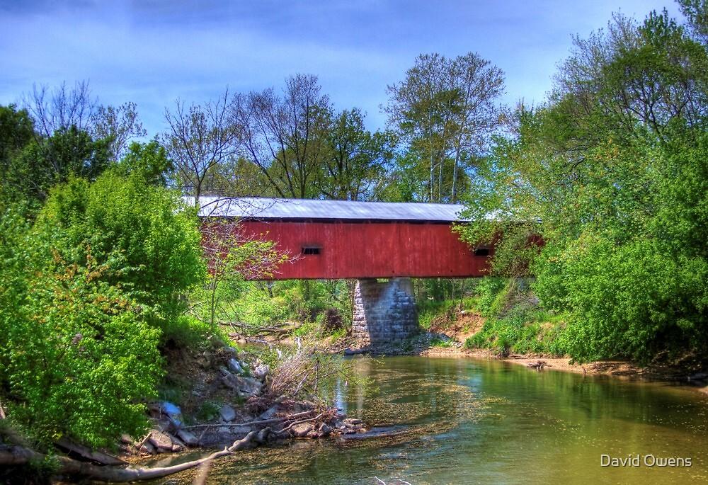 Houck Covered Bridge - Reelsville, IN by David Owens