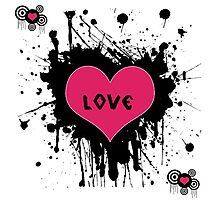Funky Heart Photographic Print