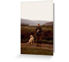 A Man and His Dog Greeting Card