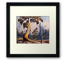 Under The Gumtree Framed Print