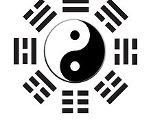 Yin & Yang, I Ching, Martial Arts, BLACK by TOM HILL - Designer