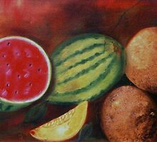 Melones- Oil Painting by Esperanza Gallego