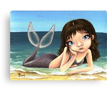 Katie the mermaid Canvas Print