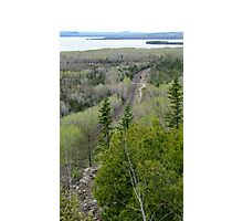 Over look at Kama Mountain - Nipigon bay, Ontario Canada Photographic Print