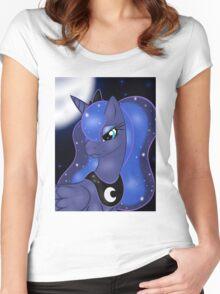Princess Luna Bust Women's Fitted Scoop T-Shirt