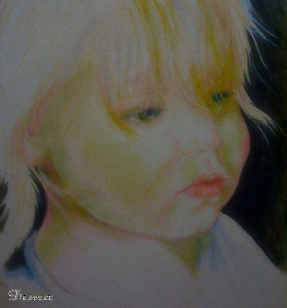 Study drawing of sad girl face by Noel78