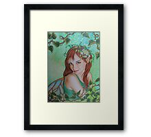 Spring elf awakening Framed Print