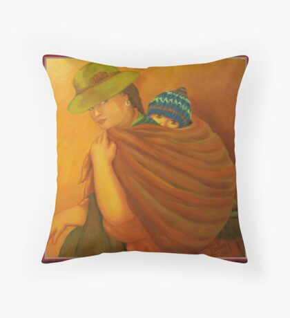Morther Of Peru Throw Pillow