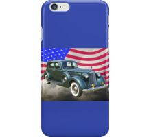 Packard Luxury Car And American Flag iPhone Case/Skin