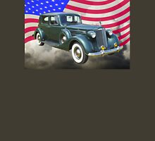 Packard Luxury Car And American Flag Unisex T-Shirt