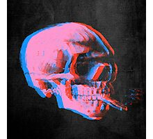 Van Gogh Skull with burning cigarette remixed 2 Photographic Print
