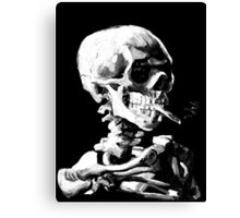 Van Gogh Skull with burning cigarette Canvas Print