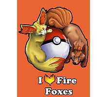 I Heart Fire Foxes Photographic Print