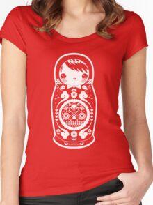 baabaabushka white Women's Fitted Scoop T-Shirt