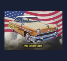 1955 Lincoln Capri Luxury Car And American Flag Kids Clothes