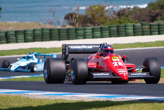 Ferrari at Phillip Island by Stuart Row