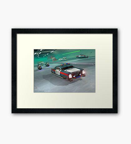 Fringe Police Cruiser Framed Print