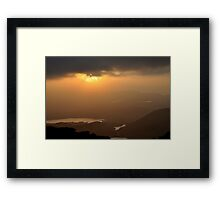 Corrán Tuathail Late Evening looking west Framed Print