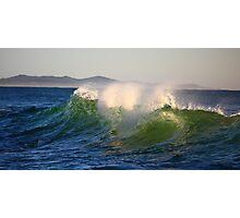 The Emerald Sea God - Point Arkwright - Sunshine Coast -Queensland - Australia Photographic Print