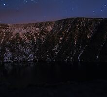 Devils Punchbowl on Mangerton Mt at night by amuigh-anseo