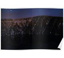 Devils Punchbowl on Mangerton Mt at night Poster