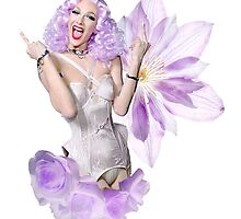 Violet Chachki Purple and White Look (D/1) by cinched-chachki