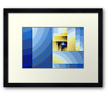 Abstract XX - down on the beach. Framed Print
