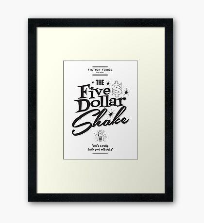 Pulp Fiction - Five Dollar Shake Framed Print