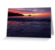 Sunrise over the Tessellated Pavement Greeting Card