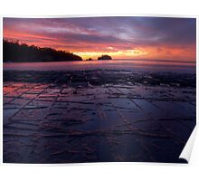 Sunrise over the Tessellated Pavement Poster