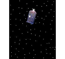 Police Box in Outerspace. Photographic Print