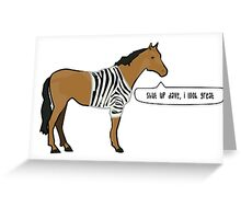 What a Fabulous Horse Greeting Card