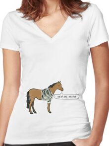 What a Fabulous Horse Women's Fitted V-Neck T-Shirt
