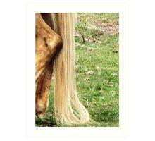 Natural Blond Pony Tail Art Print