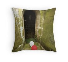 red and white balloons Throw Pillow